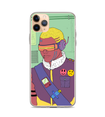 cyberpunk cyborg art comic Phone Case
