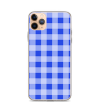 Gingham Blue Print Pattern Phone Case