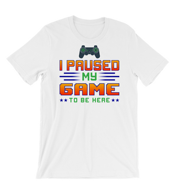T-Shirt i paused my game to be here tshirt