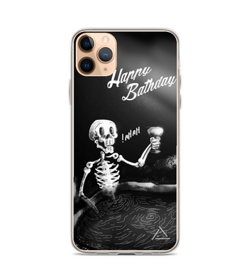 Skull Funny Halloween Party in the BathDay Phone Case