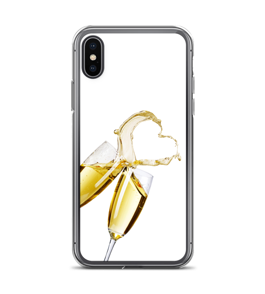 Champagne Love Toast Print Phone Case