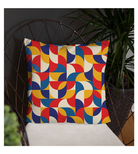 Throw Pillow Abstract Mosaic - Geometric Decorative Style - Puzzles Decor