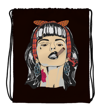 Drawstring Gym Bag Bad Girl