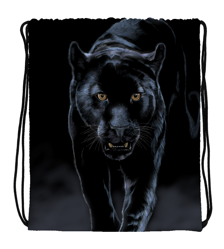 Drawstring Gym Bag Panterblack
