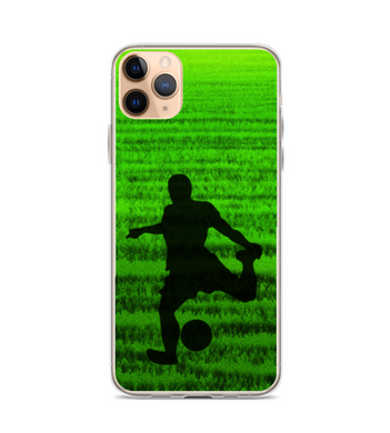 Passion for Football soccer ball man kick grass stadium brazil brazilian team soccer Phone Case