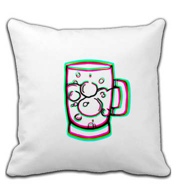 Throw Pillow RGB beer