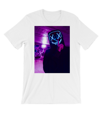 T-Shirt Skull man with led mask (silence)