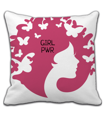Throw Pillow Girl Power