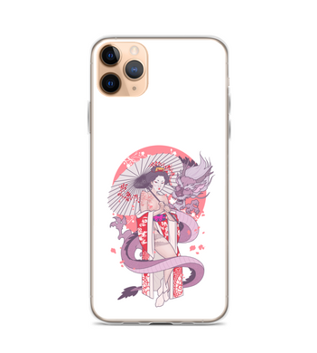 The Geisha and The Dragon Phone Case