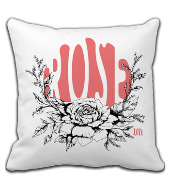 Throw Pillow Rose