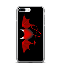 Love Heart Devil Horns Print Phone Case
