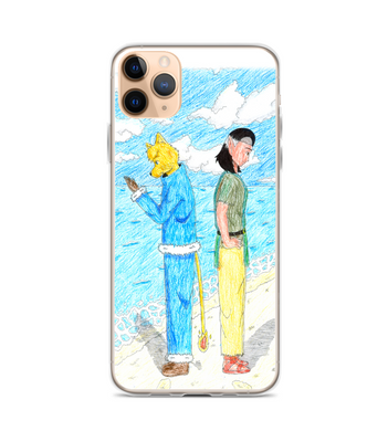manga pg comic destiny page cover illustration drawing draw color colored boy girl beach Phone Case