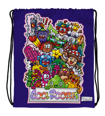 Drawstring Gym Bag Cool Doodles