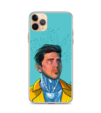 Art cyberpunk comic robots future android Phone Case