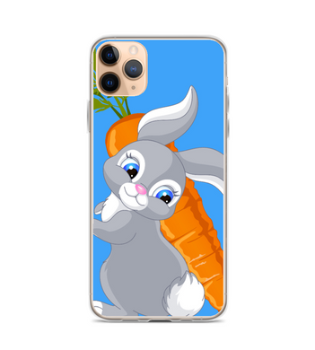 Bunny Carrot Print Pattern Phone Case