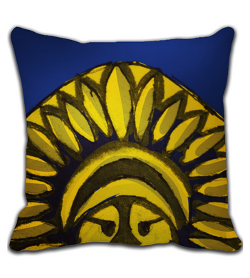 Throw Pillow Indian Warrior
