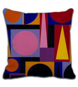 Throw Pillow Colors Abstract