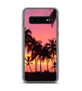 Palm Tree Paradise Beach Sunset Print Phone Case