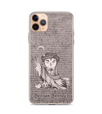 Quirinus Quirrowl  - magic OWL villain teacher with turban garlic magic wand Phone Case
