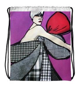 Drawstring Gym Bag Fashion Art