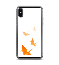 oriental tsuru japanese bird luck origami orange Phone Case