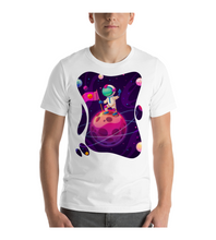 T-Shirt Astronaut with Flag on the moon