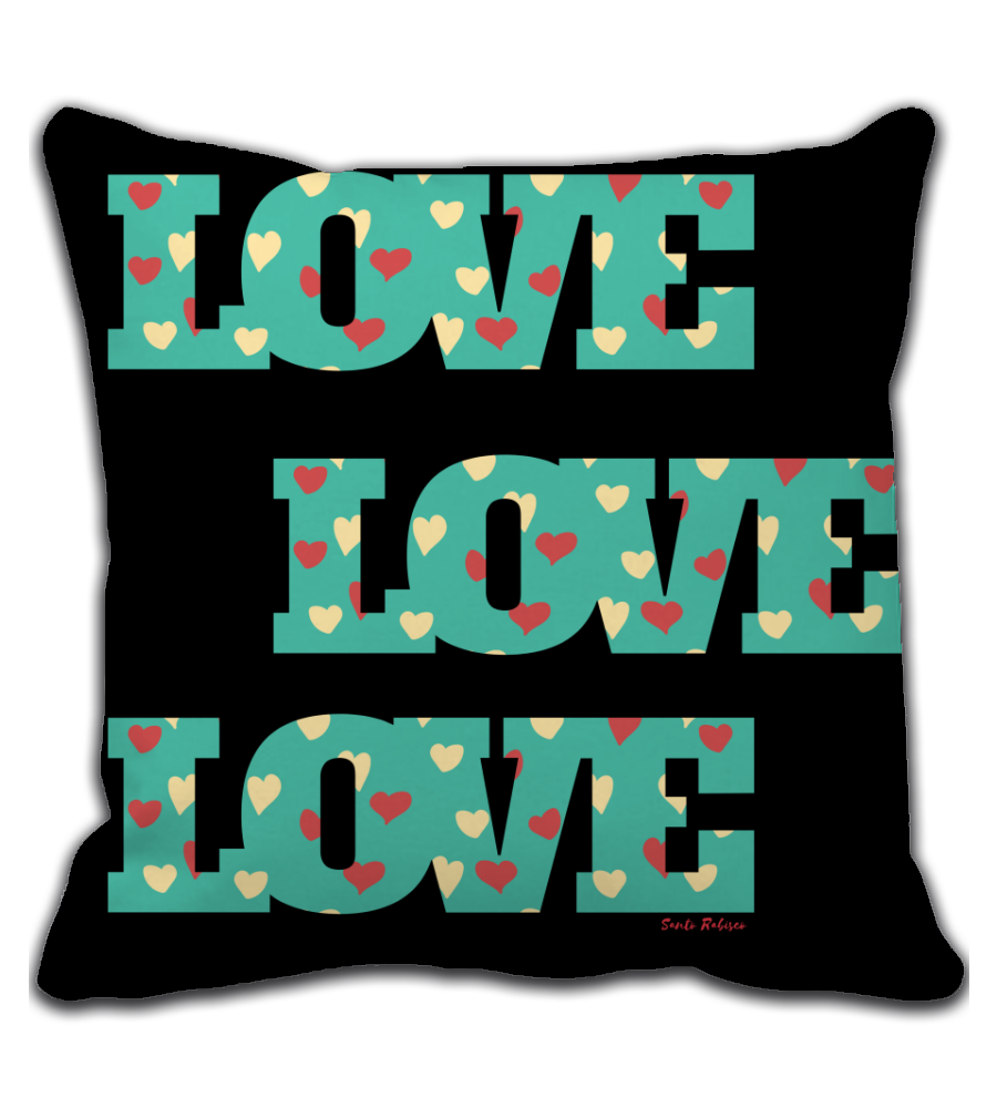 Throw Pillow Love - Digital Art