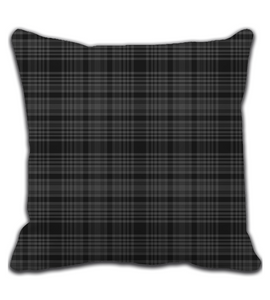 Throw Pillow Black Strip Batik