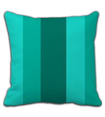 Throw Pillow Gradient Green Striped Pattern