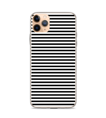 Black White Stripe Print Print Phone Case