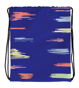 Drawstring Gym Bag lines painter clouds