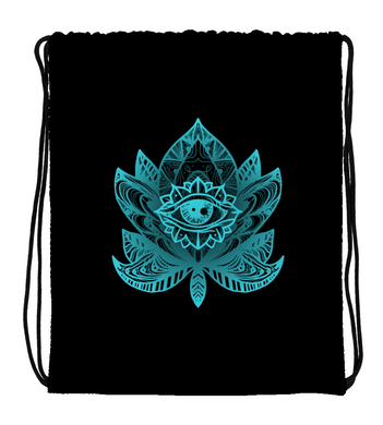 Drawstring Gym Bag AWAKE | LOTUS EYE TATTOO ARTWORK