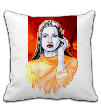 Throw Pillow Phoenix woman city art