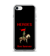HEROES live forever - horse rider in green robe - pixel art - old games style Phone Case