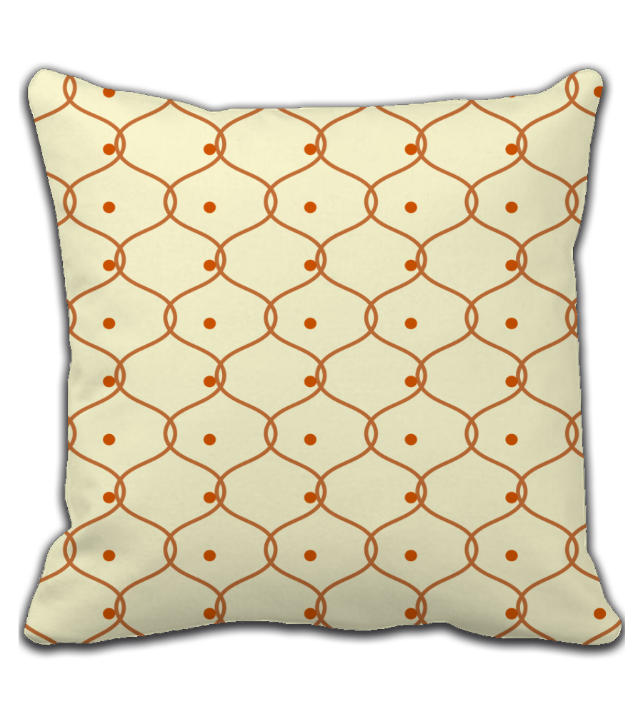 Throw Pillow Ram Wire Pattern