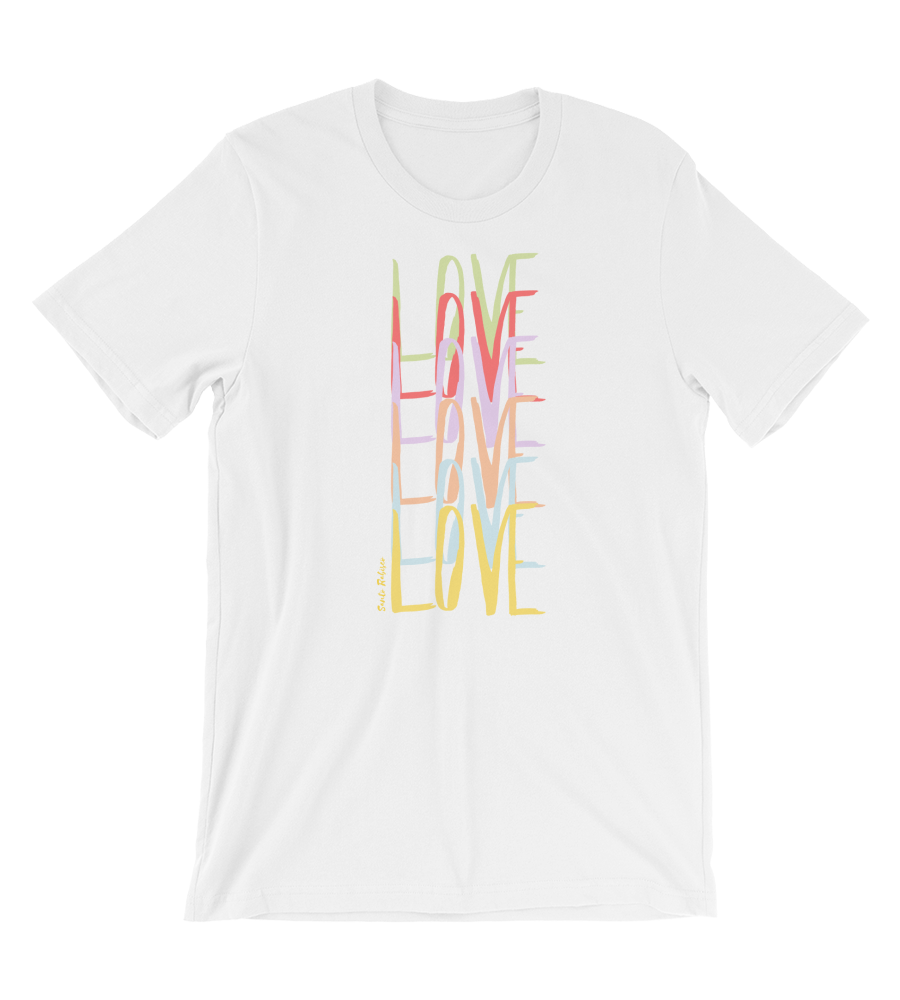 T-Shirt Love - Art made by hand and digitally finished.