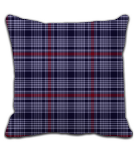 Throw Pillow Navy Strip Batik