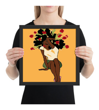 Framed Poster Black Power Woman