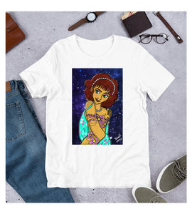 T-Shirt Nymph under a starry night