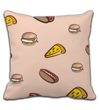 Throw Pillow Fast food Pattern