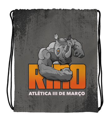 Drawstring Gym Bag Grey Rino