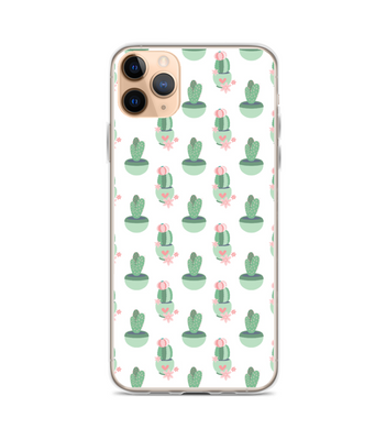 Cactus Green Pink Print Phone Case
