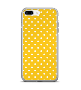 Yellow Polka Dot Print Pattern Phone Case