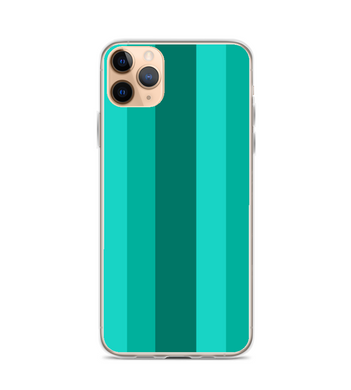 Gradient Green Striped Pattern Phone Case