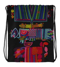 Drawstring Gym Bag Colors Abstract