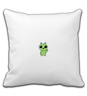 Throw Pillow Alien