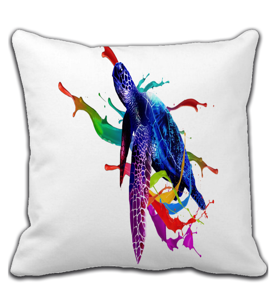 Throw Pillow turtle_magical_marine