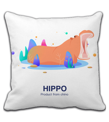 Throw Pillow hippo pillow
