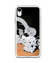 Chibi party manga drawing small characters japanese childlike funny characters boys girls Phone Case