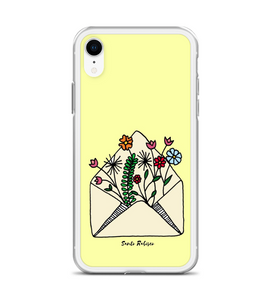 Letter with flowers! Art made by hand and finished digitally. Phone Case